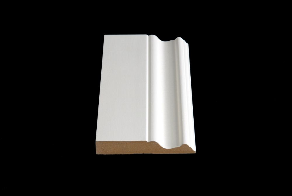 Alexandria Moulding Primed Fibreboard Base 5/8 Inches x 4 Inches x 7 Feet