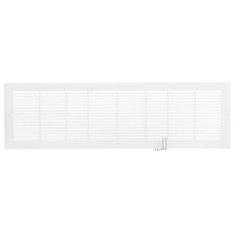 30 po x 8 po Grille murale en plastique - Blanc