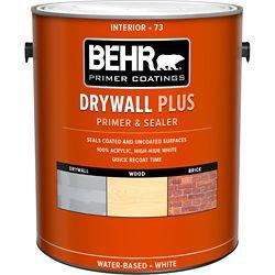 Behr Premium Plus PREMIUM PLUS Apprêt & Bouche-Pores Intérieur pour Placoplâtre, 3,79L