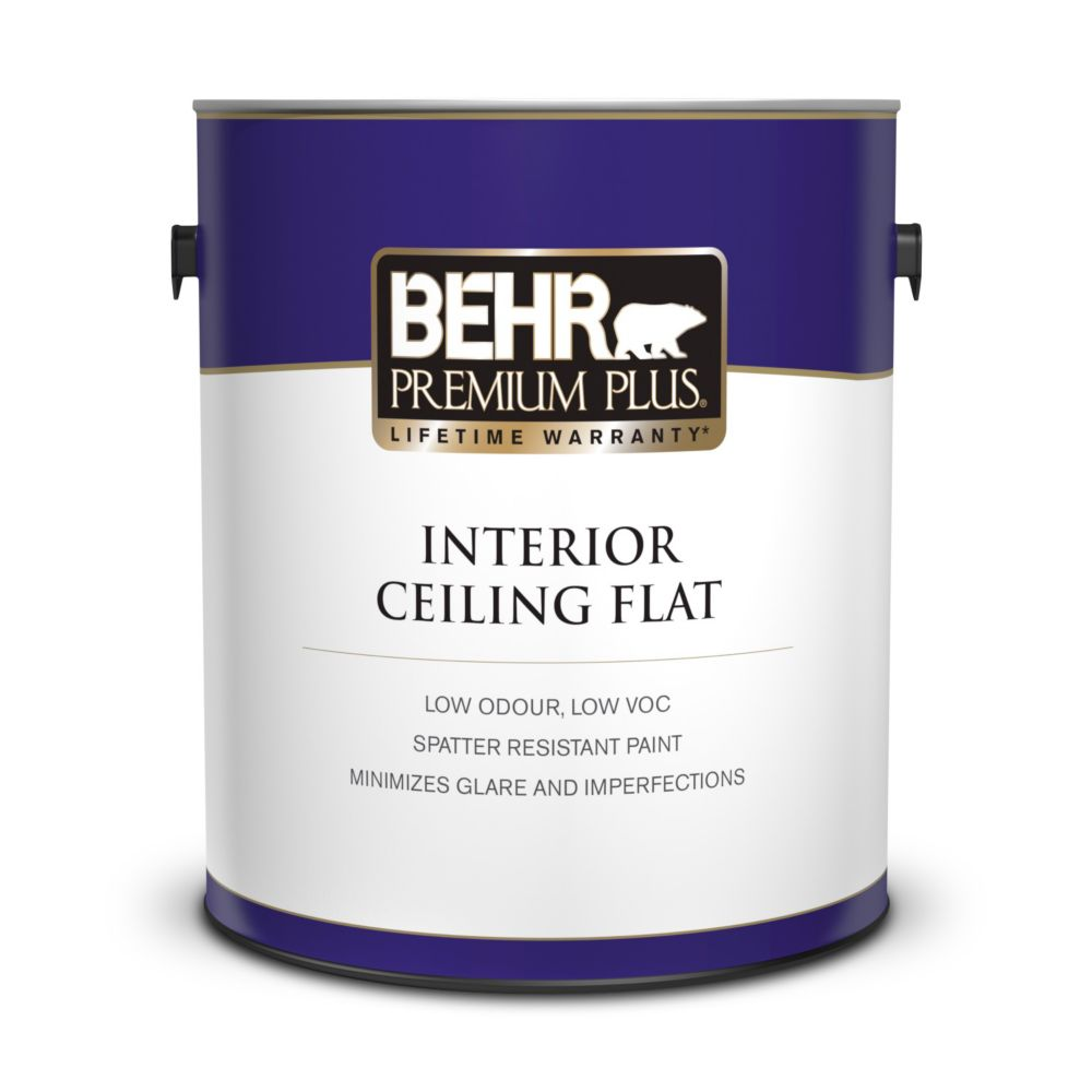 Behr Premium Plus Premium Plus Interior Flat Ceiling Paint The Home Depot Canada