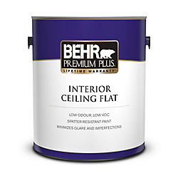Behr Premium Plus PREMIUM PLUS Peinture Intérieure pour Plafonds Fini Mat - 3,79L