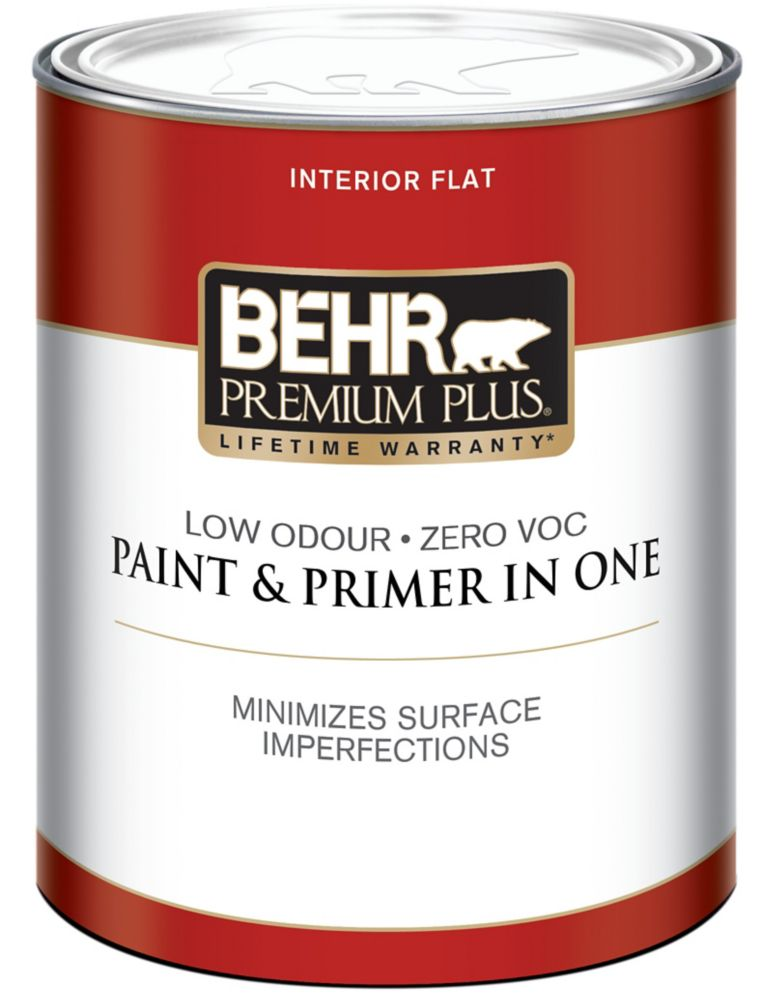 BEHR PREMIUM PLUS<sup>®</sup> Interior Flat Paint - Ultra Pure White, 946ML