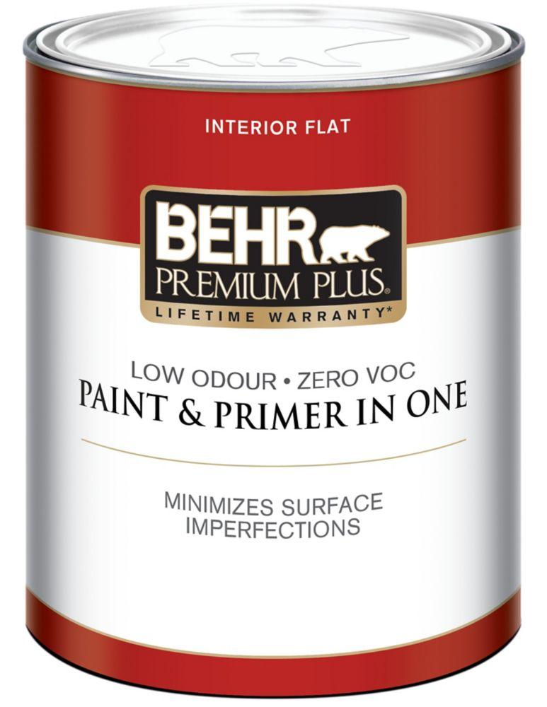 BEHR PREMIUM PLUSMD  Peinture intérieure fini mat - Blanc Ultra Pur, 946 mL