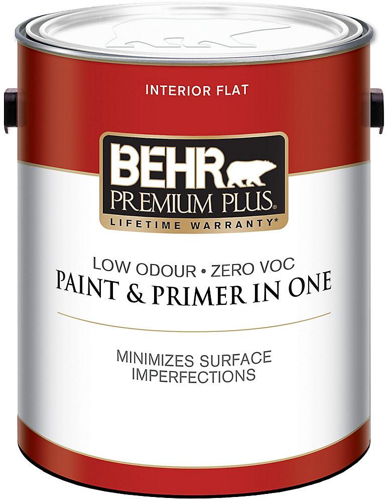 Ultra Pure White Flat Interior Paint & Primer, 3 79 L