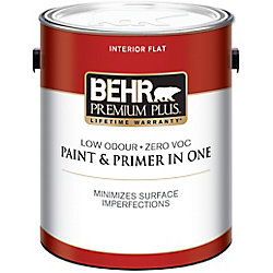 Behr Premium Plus Peinture et apprêt en un d'intérieur Premium Plus, 3,79 L, fini mat