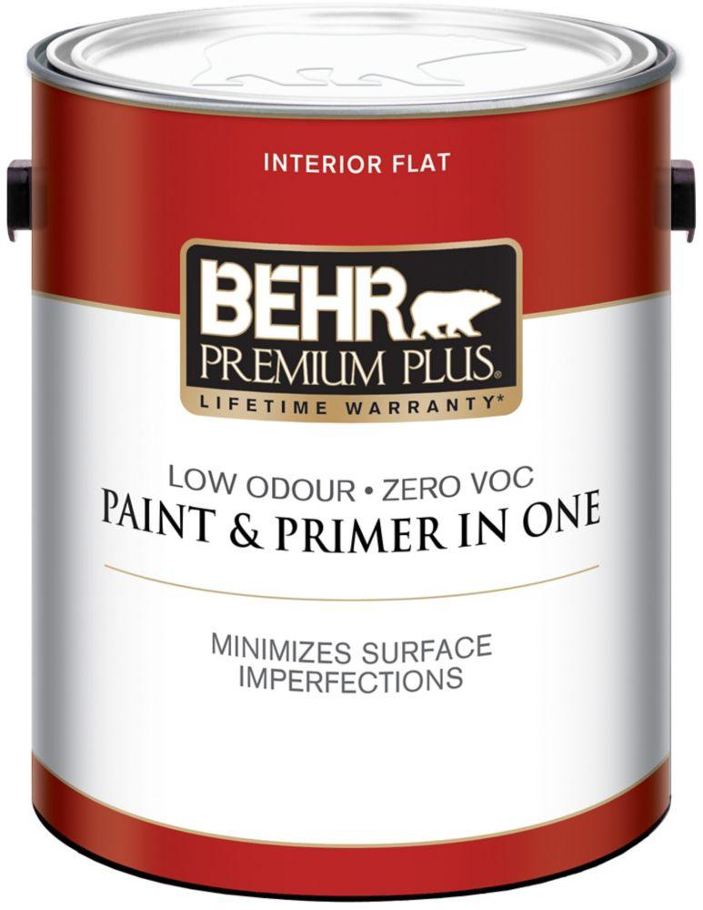 BEHR PREMIUM PLUSMD  Peinture intérieure fini mat - Blanc Ultra Pur, 3,79 L