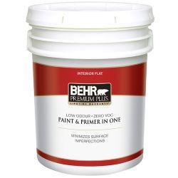Behr Premium Plus Interior Flat Paint - Ultra Pure White, 18.9 L