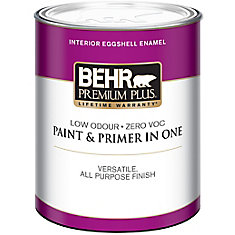 BEHR PREMIUM PLUS   Interior Eggshell Enamel Paint - Ultra Pure White, 946ML