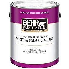 Premium Plus Interior Eggshell Enamel Paint in Ultra Pure White, 3.79 L