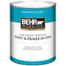 Behr Premium Plus Interior Satin Enamel Paint - Ultra Pure White, 946 ML