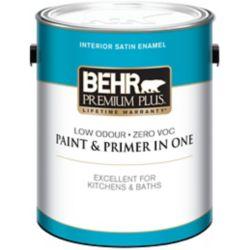 Behr Premium Plus Interior Satin Enamel Paint - Deep Base, 3.43 L
