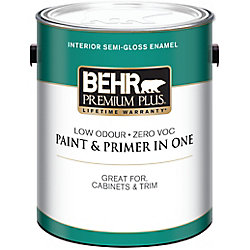 Behr Premium Plus Interior Semi-Gloss Enamel Paint - Deep Base, 3.43 L