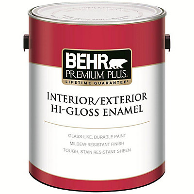 Premium Plus Interior Exterior High Gloss Enamel Paint Ultra Pure White 3 79l