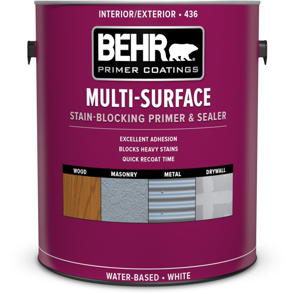 BEHR PREMIUM PLUS Exterior Water-Based Primer & Sealer - 3.73L
