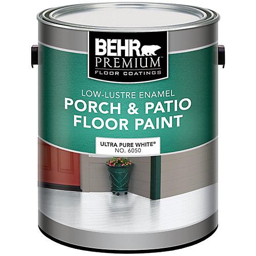 PREMIUM Low-Lustre Enamel Porch & Patio Floor Paint, Ultra Pure White, 3.79 L