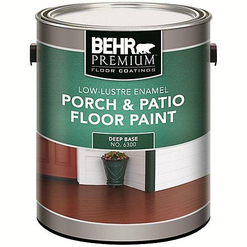 PREMIUM FLOOR COATINGS Interior/Exterior Porch & Patio Floor Paint - Low-Lustre Enamel, Deep Base, 3.43 L