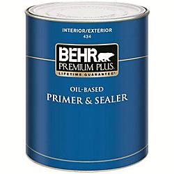 Behr Premium Plus PREMIUM PLUS Apprêt & Bouche-Pores à l'Huile Intérieur/Extérieur - 931mL