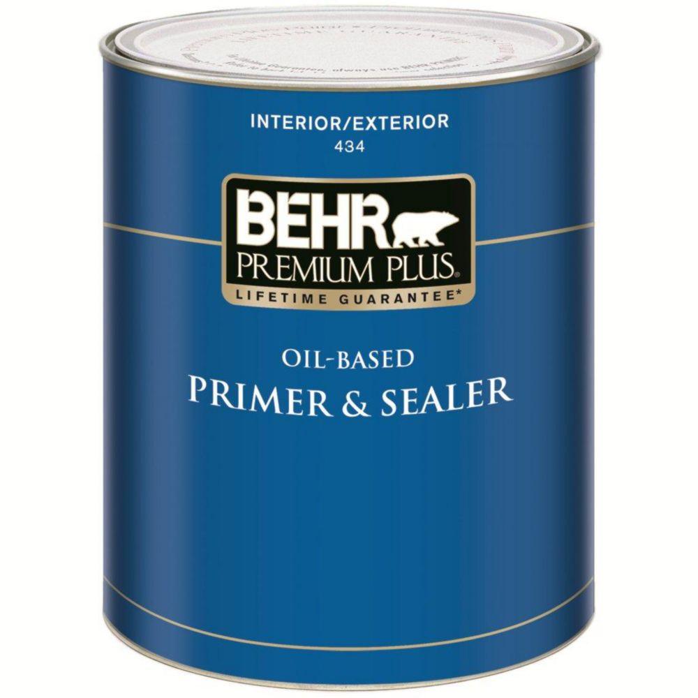 PREMIUM PLUS Interior/Exterior Oil-Based Primer & Sealer - 931mL
