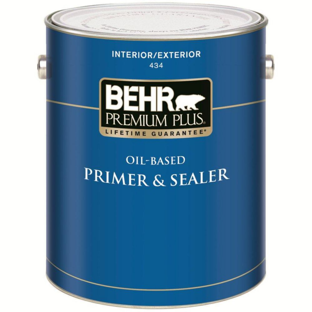 Behr Premium Plus Premium Plus Interior Exterior Oil Based Primer Sealer The Home