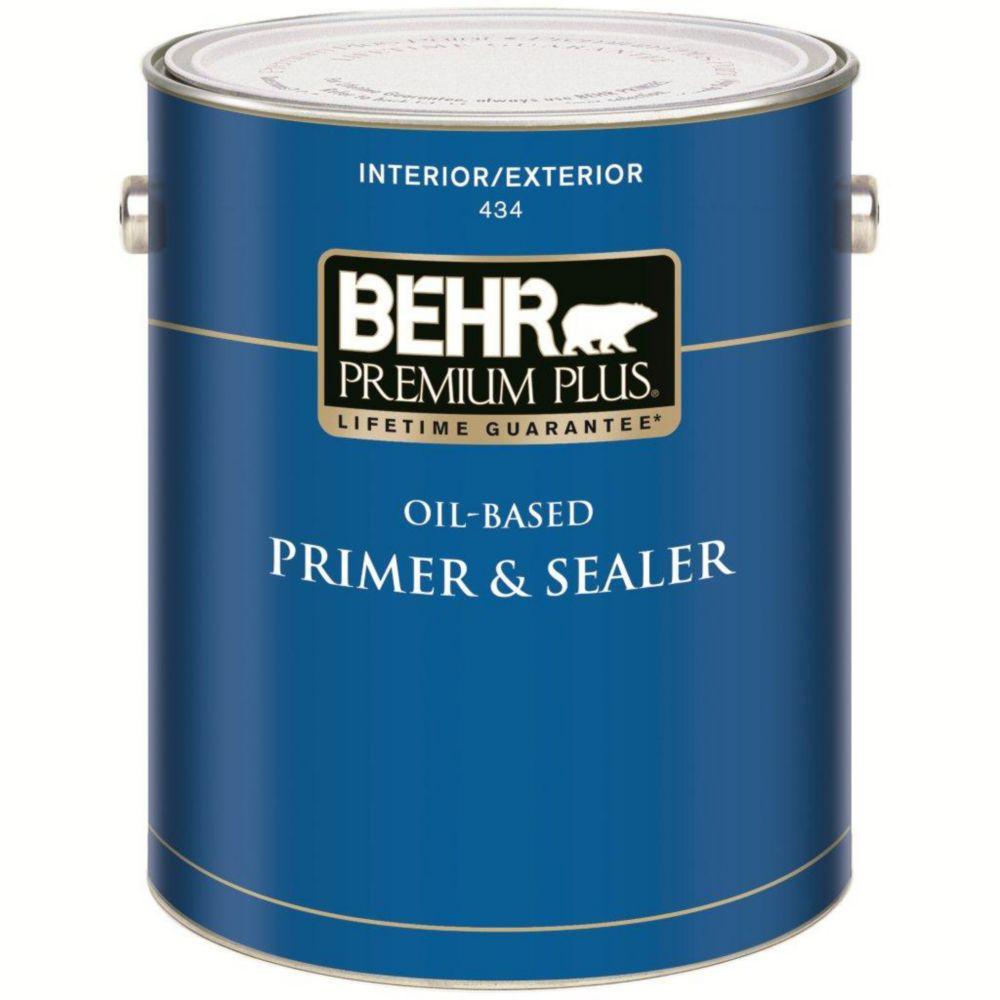 PREMIUM PLUS Interior/Exterior Oil-Based Primer & Sealer - 3.73L