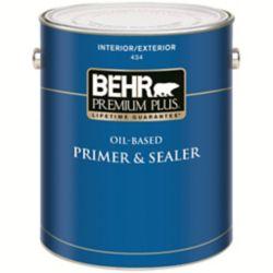 Behr Premium Plus PREMIUM PLUS Apprêt & Bouche-Pores à l'Huile Intérieur/Extérieur - 3,73L
