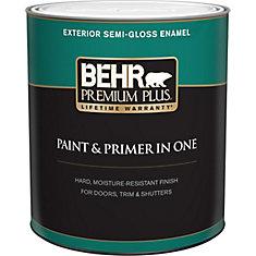 Peinture & apprêt en un - Extérieur émail semi-brillant - Blanc ultra pur, 946 ML