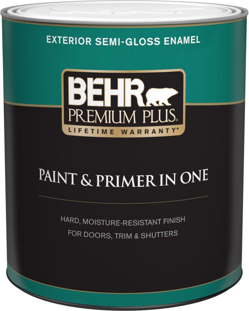 Exterior Paint & Primer in One, Semi-Gloss Enamel - Deep Base, 946 mL