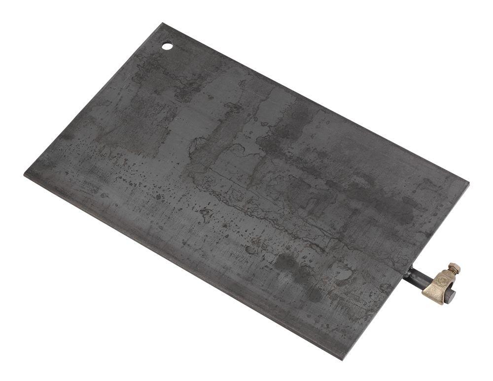 Black Ground Plate C/W Connector
