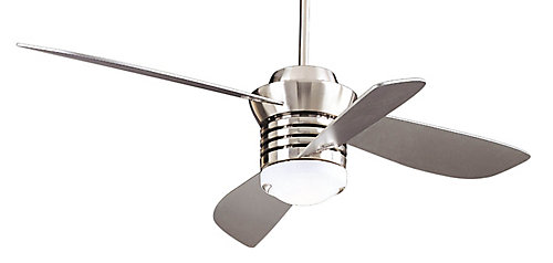Hampton bay pilot blade ceiling fan in brushed nickel finish the pilot blade ceiling fan in brushed nickel finish mozeypictures Choice Image
