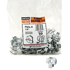 PSCL 1/2 Inch Plywood Sheathing Clip (50-Pack)