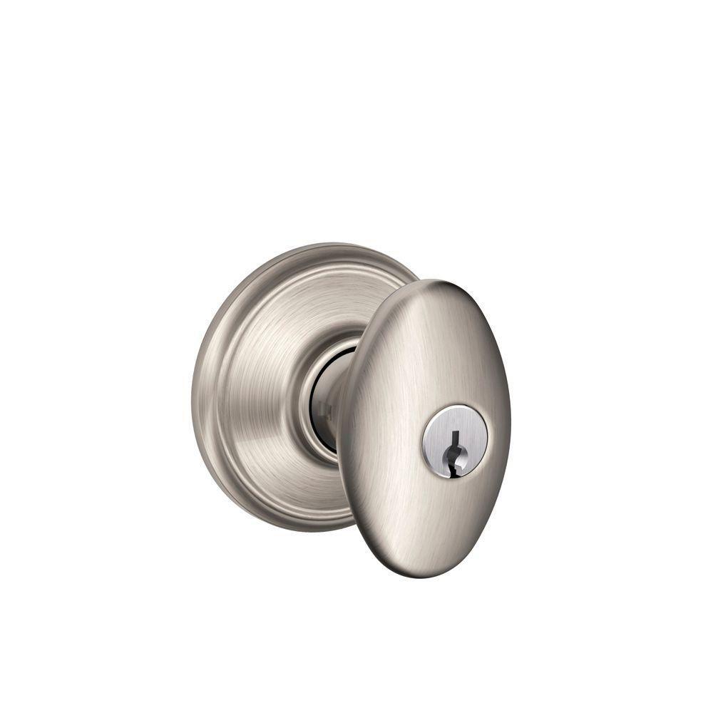 Siena Satin Nickel Keyed Door Knob
