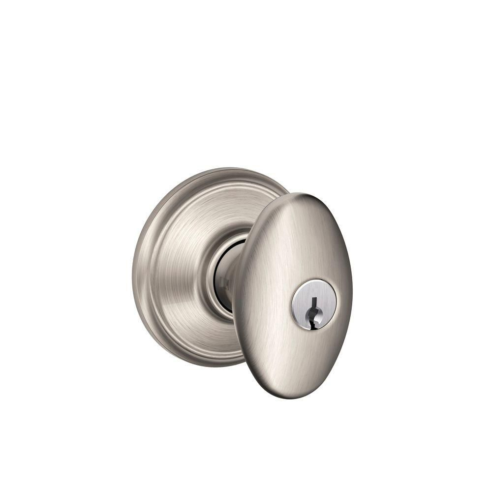 Schlage Keyed Knob Siena Satin Nickel