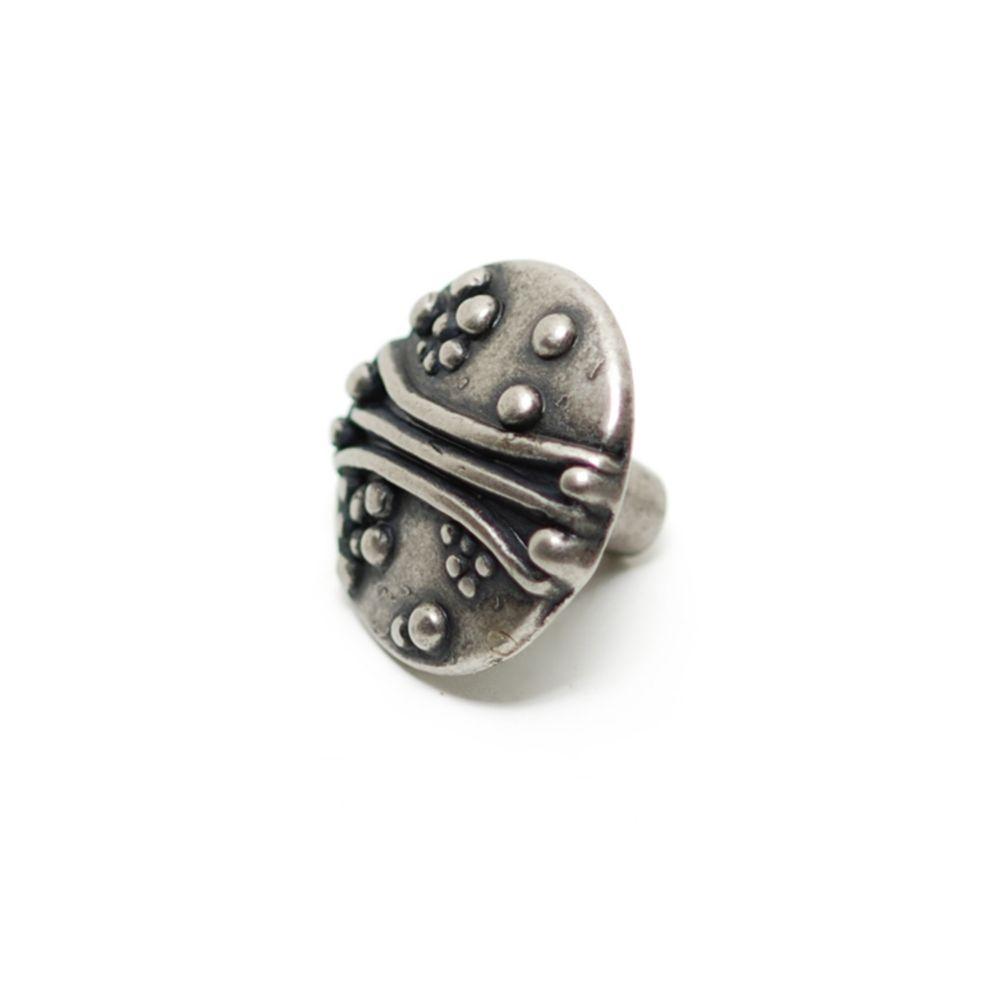Classic Metal Knob - Faux Iron - 30 mm Dia.