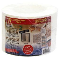 BENNETT Rouleau de placage pour bordures, paquet de 5, 50 pi, blanc