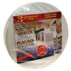 BENNETT 250 ft x 13/16 inch Pre-Glued Melamine, white Iron on Edging (3-Pack)