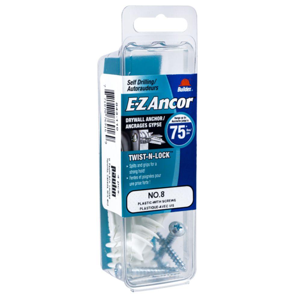 Papc 8 W/Sc E-Z Drywall Anchors