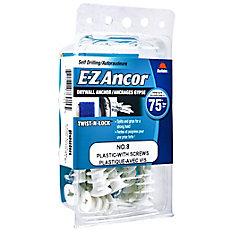 Papc 8 W/Sc E-Z Drywall Anchors (C)