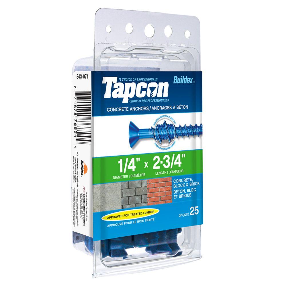 Tapcon Ancrages A Beton 1/4X2-3/4