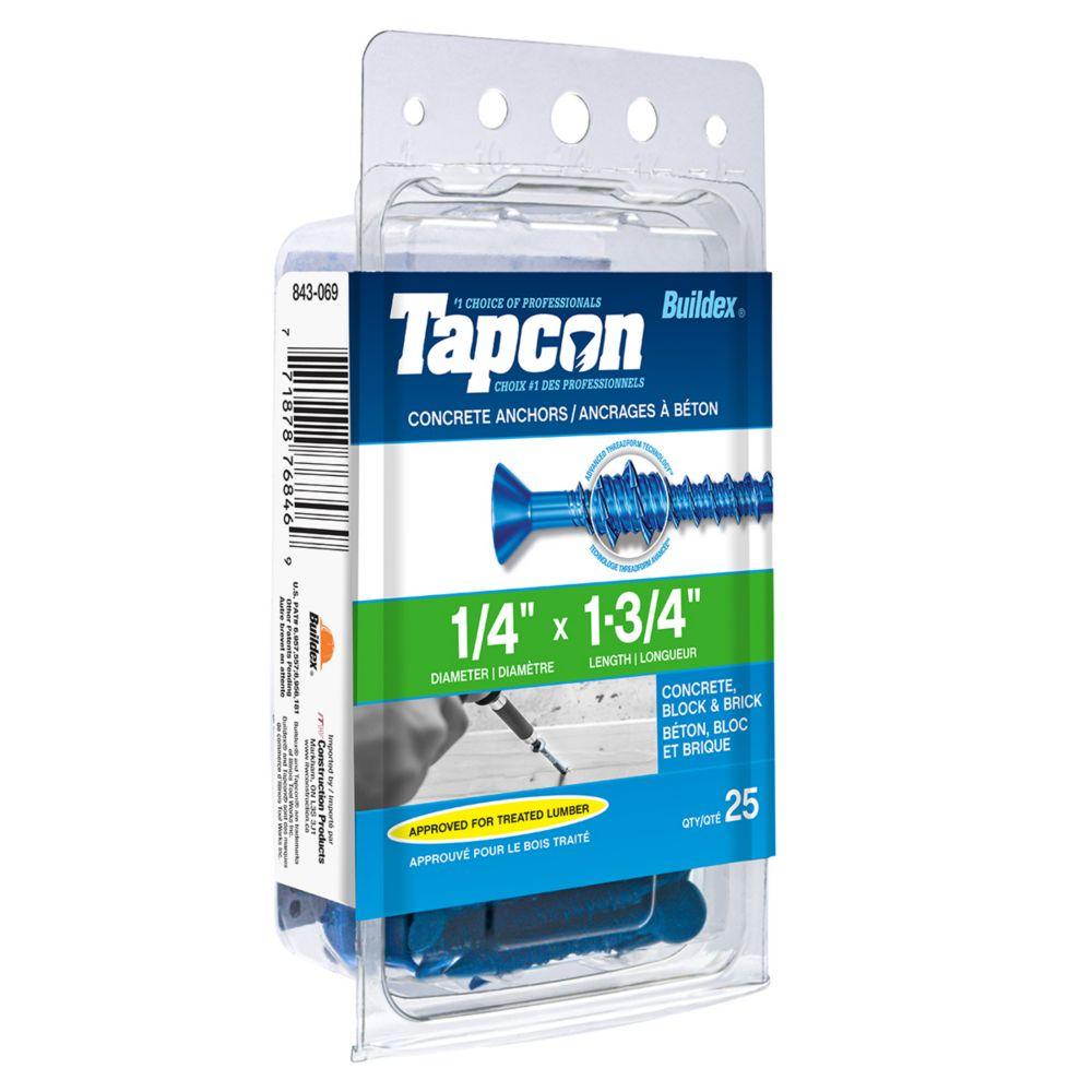 Papc 1/4x1 3/4p Tapcon Concrete Scr