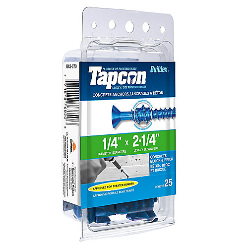 Papc 1/4x2 1/4p Tapcon Concrete Scr