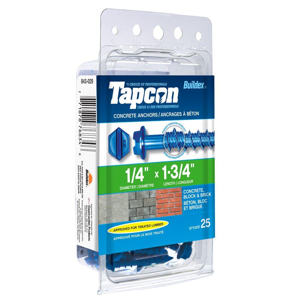 Papc 1/4x1 3/4h Tapcon Concrete Scr