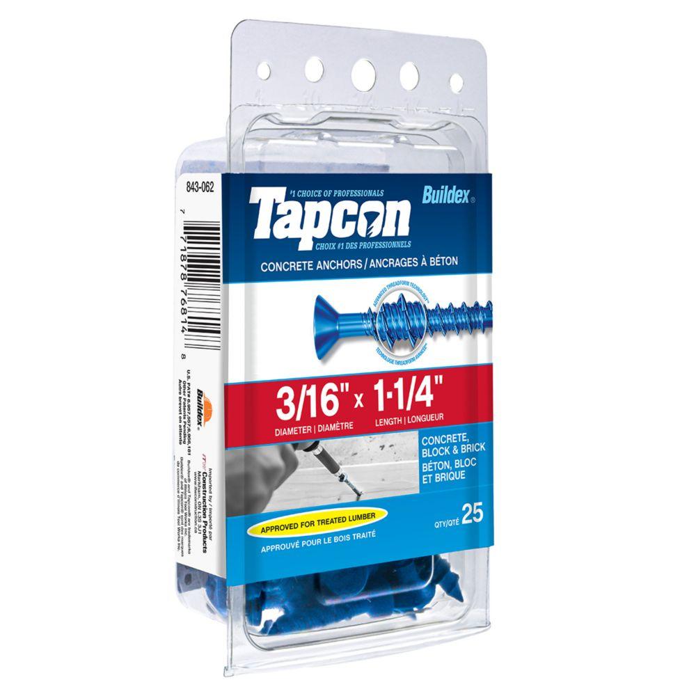 Papc 3/16x1 1/4p Tapcon Concret Scr