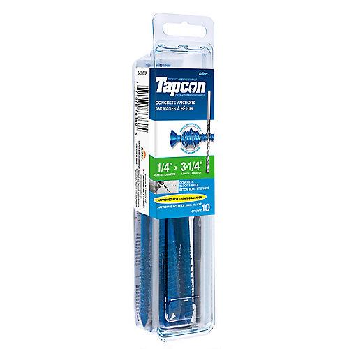 Papc 1/4x3 1/4p Tapcon Concrete Scr
