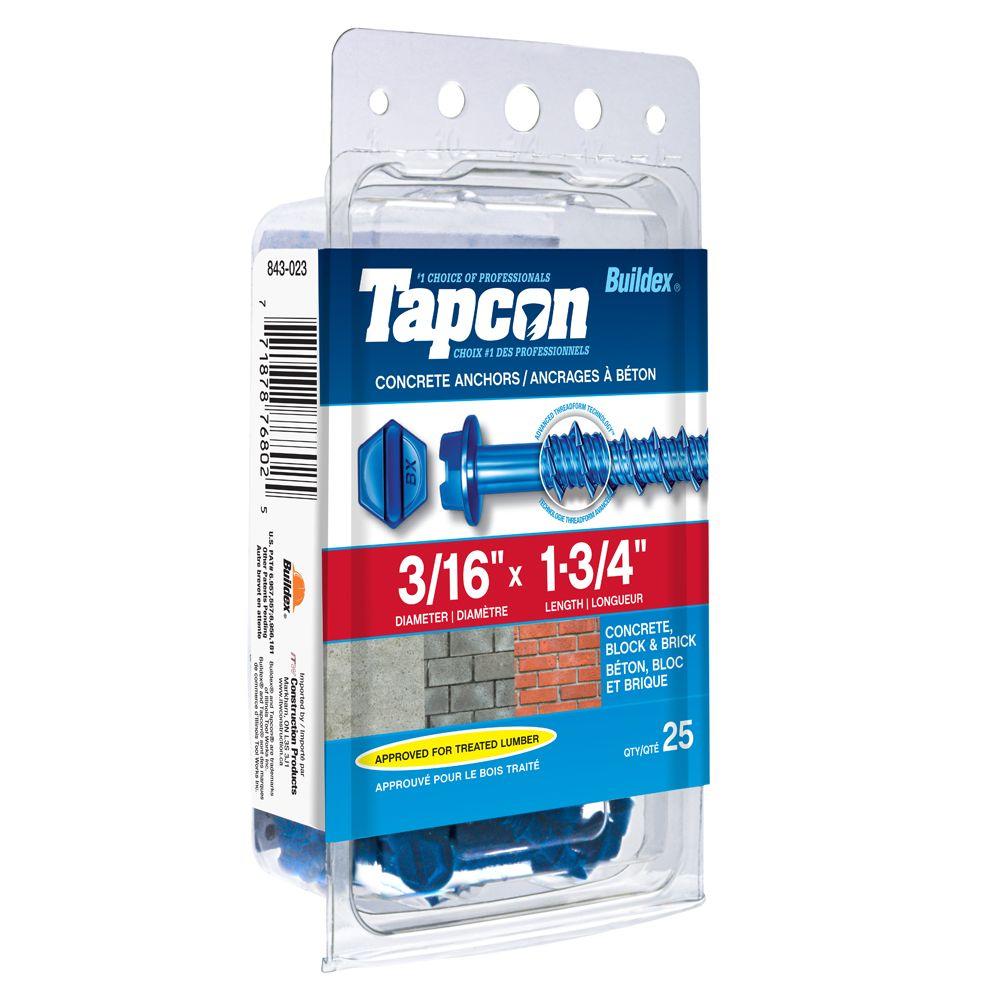 Papc 3/16x1 3/4h Tapcon Concrete Scr