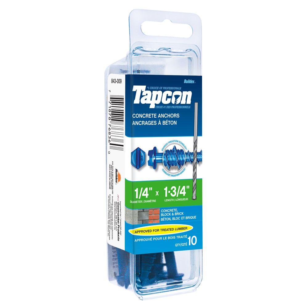 Tapcon Ancrages A Beton 1/4X1-3/4