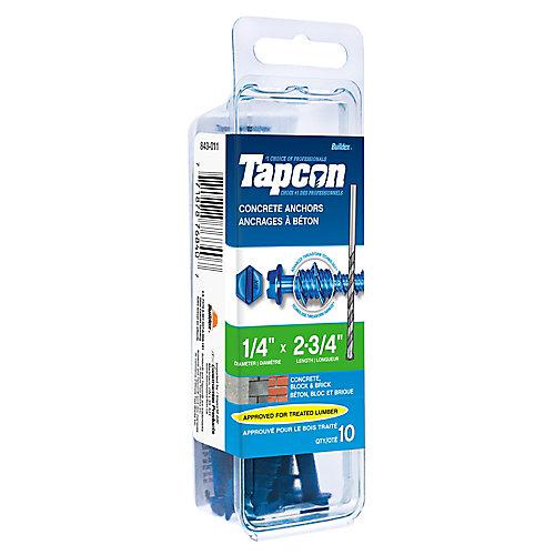 Papc 1/4x2 3/4h Tapcon Concrete Scr