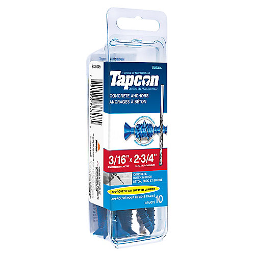 Papc 3/16x2 3/4p Tapcon Concrete Scr