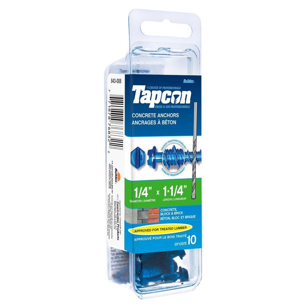 Papc 1/4x1 1/4h Tapcon Concrete Scr