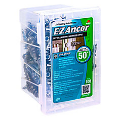 #8 W/Sc E-Z Ancors  Drywall Anchors Zinc