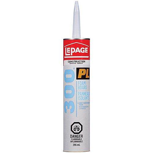 LePage PL 300 Foam Board Adhesive 295mL